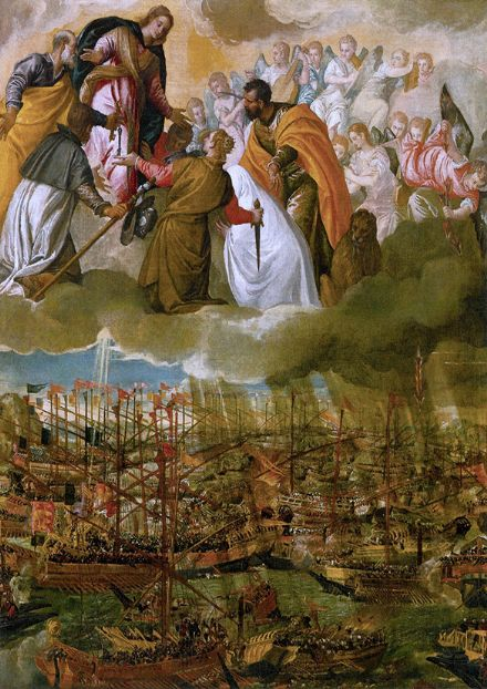 Veronese, Paolo Caliari: Allegory of the Battle of Lepanto. Fine Art Print.  (002018)